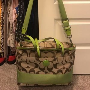 Coach diaper bag/overnight or oversized tote